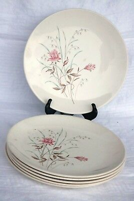 "USA Mt Clemens Salem MT ROSE BLUSHING ROSE USA29 9 1/4"" Dinner Luncheon Plates 6"