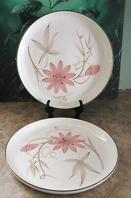 """Winfield Hand Crafted China - PASSION FLOWER - U.S.A. 10 1/4"""" Dinner Plates (2)"""