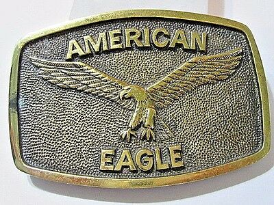 Vintage American Eagle Raised Full Wing Spread Design Signed Bts Solid Brass