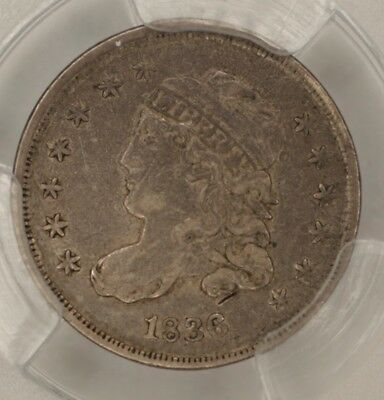 1836 Capped Bust Half Dime PCGS XF40, Large 5c, LM-7