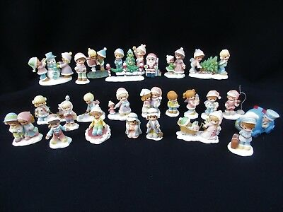 Lot of 25~Precious Moments HAWTHORNE VILLAGE Figures~Accessories~Mostly 2002-03
