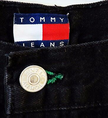 Size 38 Black Jeans // Tommy Hilfiger // Tommy Denim  // 90s Style // Loose Fit