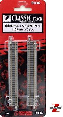 Rokuhan R036 Z Scale 112.8mm Straight Track Pack Of 2