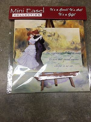 Mini Easel Collection Greeting Love Card & Envelope Dancing Couple