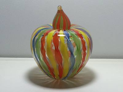 Ribbon art glass apple perfume bottle