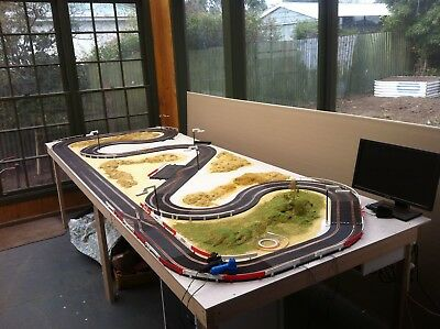 HUGE SCALEXTRIC TRACK LOT!! Over 12 metres of track, New copper tape. cars