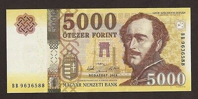 2016 Hungary 5000 Forint Uncirculated # PNew