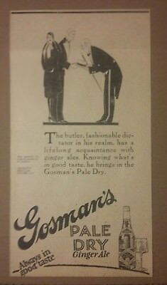 1926 Gosman's Pale Dry Ginger Ale Ad