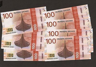2017 Norway 100 Kroner New Version First Run ~ Uncirculated