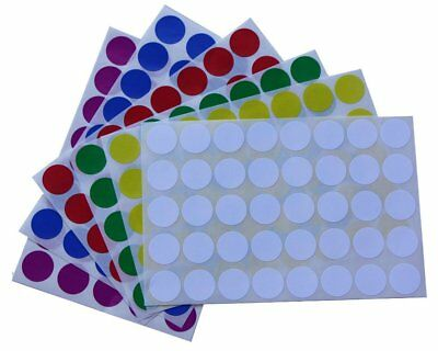 Dot Rounded Stickers 3/4 Inch Color Coding Labels For Marking Filing 1200 Pack