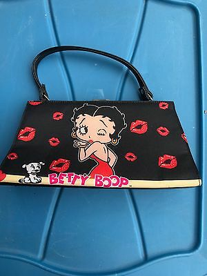Betty Boop Black w/Kiss Marks Small Purse