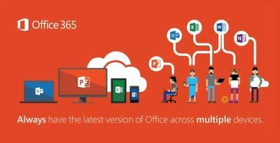 Microsoft Office 365 Home Subscription 5 Users Mac PC Mobile