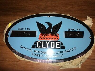 Clyde Loco Serial Plate