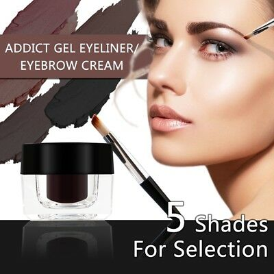 Beauty Waterproof Dyed Eyebrow Cream Enhancers& Brow Brush Tint Gel Makeup Tool