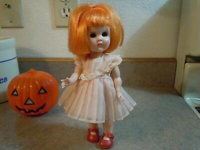 """Vintage Made ONLY In 1960 Rare Vogue Lil Ginny WEE IMP 8"""" Doll Red Hair Freckles"""