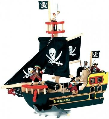 Le Toy Van Barbarossa Pirate Ship. Free Delivery