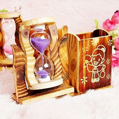Exquisite Creative Wooden Wooden Pen Container Hourglass XY110