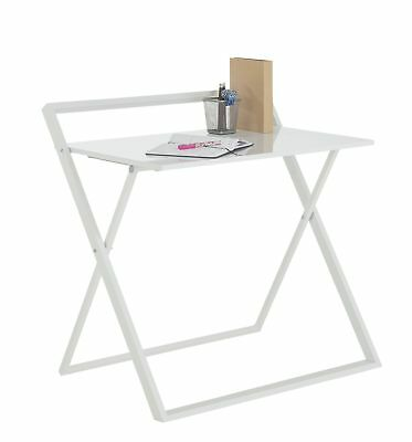 HOME Compact Folding Easy Clean Desk - White