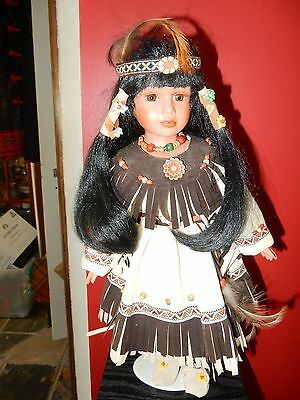 American Indian Doll On Stand