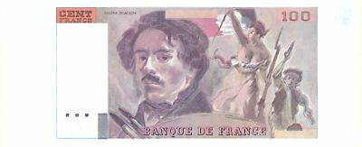 Francia Proof 100 Francs Delacroix - Type 1978 - Clock Watermark