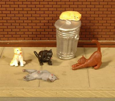 BACHMANN - 33157 - CATS with GARBAGE CAN (6pcs/pk) - O