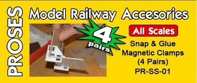 PROSES - PR-SS-01 - Snap & Glue Set Square (4 Magnetic Clamps w/16 Magnets)
