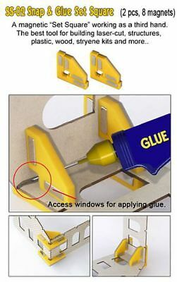 PROSES - PR-SS-02 - Snap & Glue Set Square (2 Magnetic Clamps w/8 Magnets)