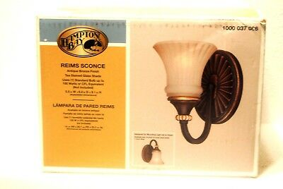 Hampton Bay 1-Light Reims Wall Sconce Light Antique Bronze Finish NEW IN BOX