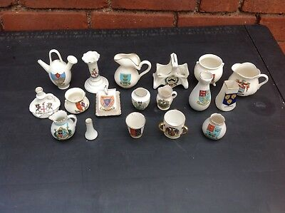 Job Lot Collection of Eighteen Pieces of Crested Ware - Various Makers