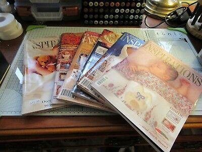 Bundle Of 6 Beautiful 'classic Inspirations' Embroidery Magazines