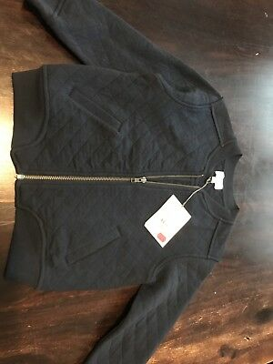 BNWT Witchery Boys Navy Quilted Bomber Jacket Size 5
