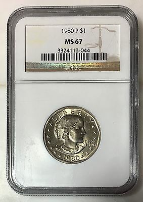1980 Susan B Anthony Dollar NGC MS67 ***Rev Tye's Coin Stache*** #304480