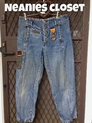 Vintage Original 80S Dachet Womens Baggy Jeans Rare Find! Button Fly So Funky 16