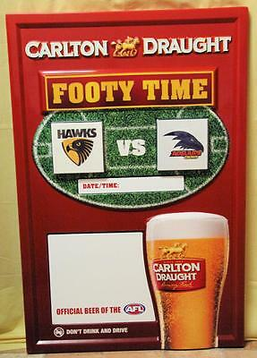 Collectible Carlton Draught Afl Game Day Football Scoreboard Large - New