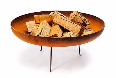 """Stunning Heavy Duty 1/4 Inch Carbon Steel """"Venus"""" Outdoor Wood Burning Fire Pit"""