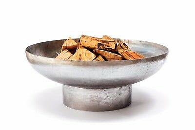 """Huge 1200mm - 1/4 Inch Stainless Steel """"Mercury"""" Outdoor Wood Burning Fire Pit"""