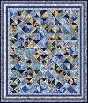 "KEW GARDENS - 82"" x 70""- 7 colour - Quilt-Addicts Precut Quilt Kit Kng Single"