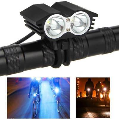 10000 Lumen 2 CREE T6 LED Cycling Bycicle Headlight Headlamp Torch Flashlight #A