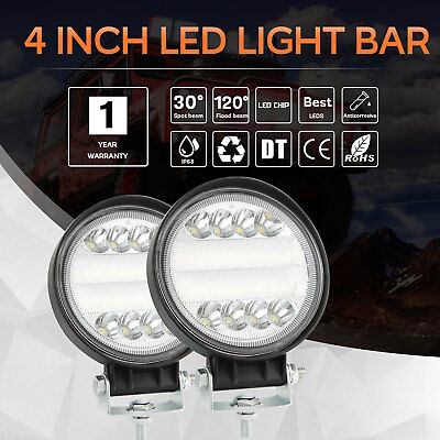 4 Inch 300W Round LED Work Light Driving Lamp Headlight For offroad ATV Truck