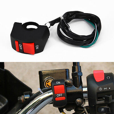 Durable Motorcycle Handlebar Mount ATV Dirt Bike ON-OFF Button LED Light Switch