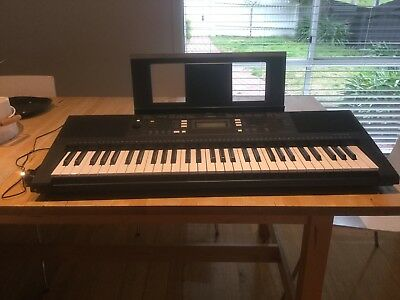 Black Yamaha PSR-E343 Keyboard with Pedal