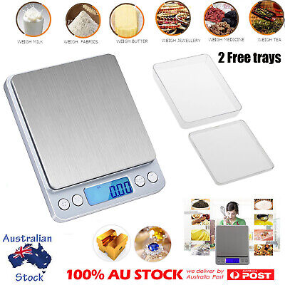 0.01g-500g Digital LCD Electronic Balance Scales Jewellery Kitchen Food Scale AU