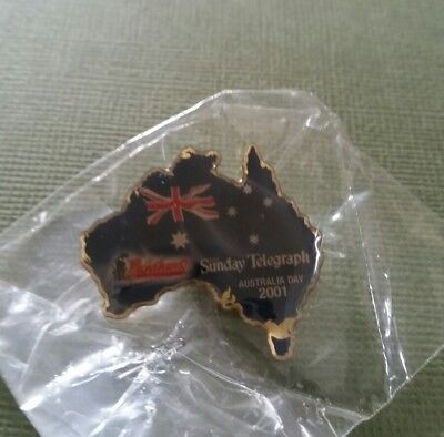 1 X Panthers The Sunday Telegraph Australia Day 2001 Pin Brand New