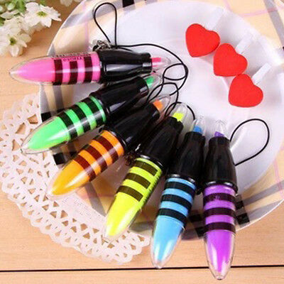 Creative Stationery Bee Mini Highlighter Writing Supplies Gifts Random Color