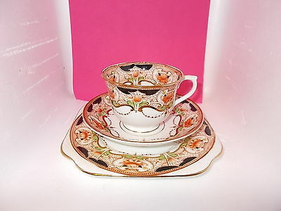 Art Deco Colclough / Royal Vale China Trio - Cup, Saucer & Plate (imari pattern)