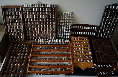Large Collection of Thimbles x 547 and Display Stands