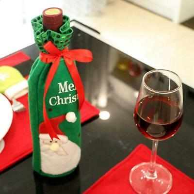 Christmas Party Favors Santa Claus Wine Bottle Bag Cover Xmas Gifts Wrap