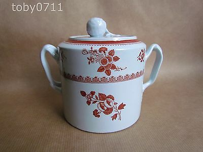 Spode Spodes Gloucester Red Two Handled And Lidded Sugar Bowl