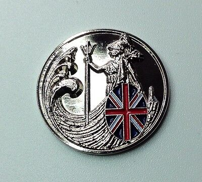 Britannia On Waves Ball Marker - Silver
