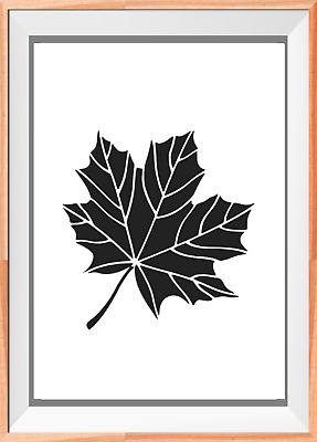 Maple Leaf Large Mylar Reusable Stencil Airbrush Painting Art Craft DIY home